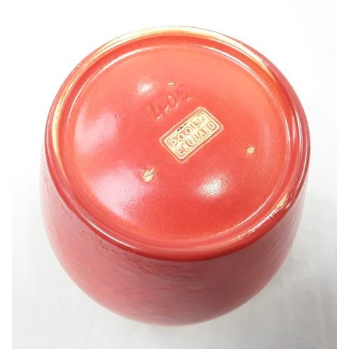 20 - Poole Pottery shape 402 orange uranium glaze vase 4.5