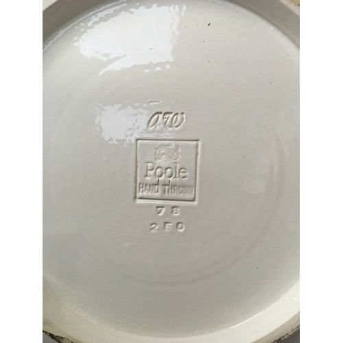 97 - Poole Pottery limited edition carp dish by Alan White 78/250. 13