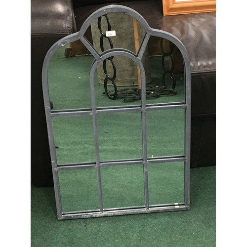 2011 - A small leaded glass mirror (176)....