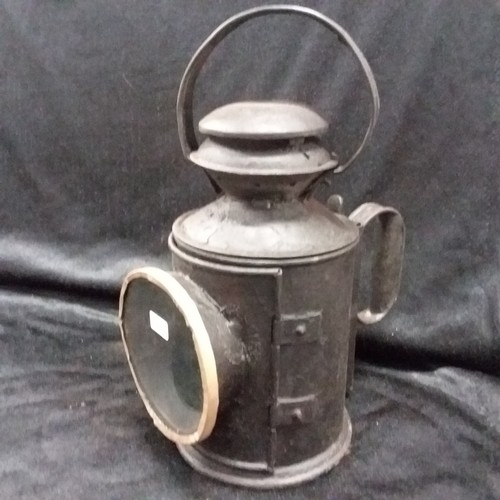 1023 - A vintage style railway lamp.(185)....