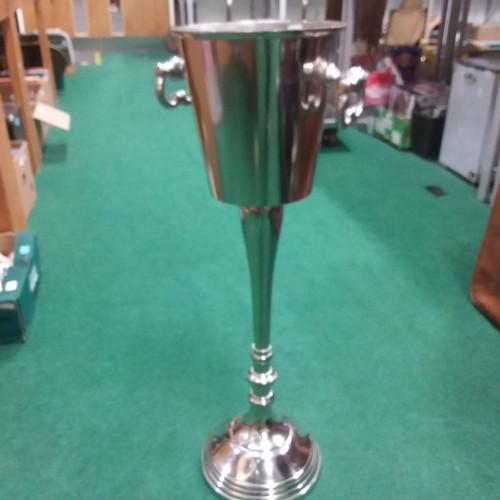1373 - A floor standing metal Champagne bucket.(164)....