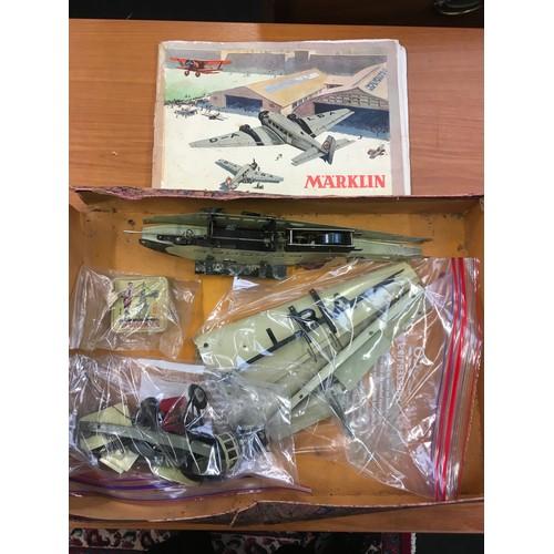 248 - Rare Marklin 1936 Aeroplane construction set No.1151 with original box and instructions. Appears com...