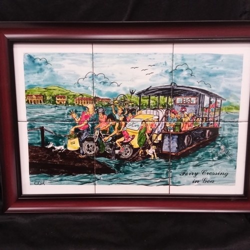 1236 - A tiled picture of the Goa ferry crossing....