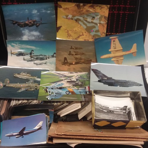 1125 - A suitcase full of photographs, postcards and slides of various aircraft....