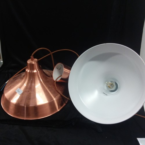 1116 - A pair of copper Ikea downlighter fitments....