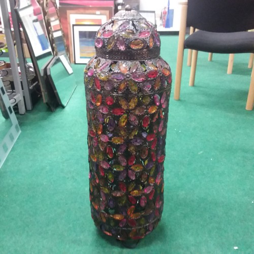 1003 - A tall Moroccan style table lamp 86cm tall....