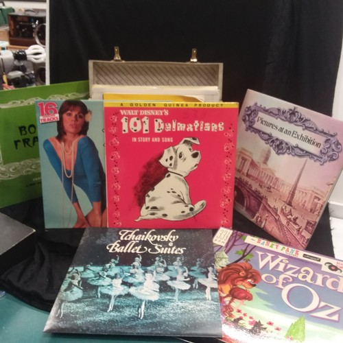 1030 - A vintage case of various records....