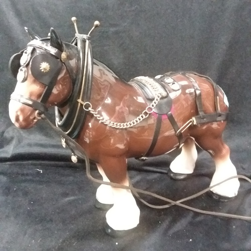 1019 - A china Shire horse with harness....