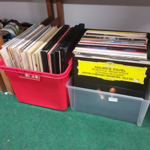 1110 - Two boxes of classical music LPs....