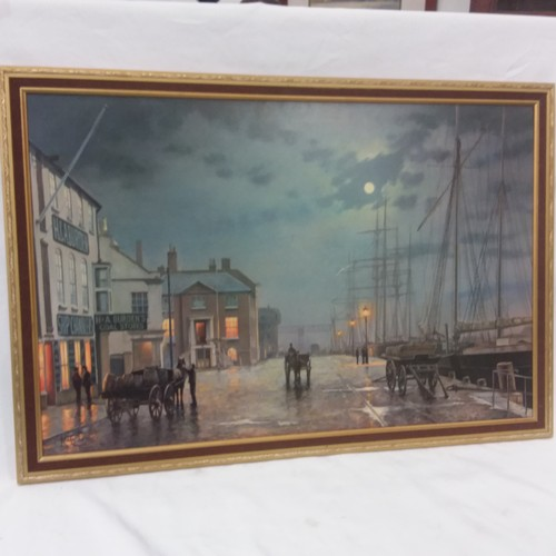 1114 - A framed print of Poole Quay by Rodney Charman....