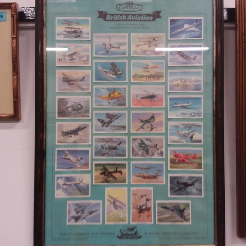 1127 - A Castella Shuttleworth collection of aviation collectors cards....