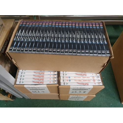 2044 - Five boxes of DVDs as new....