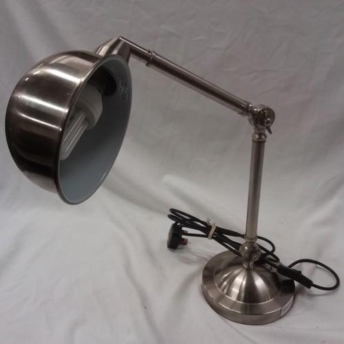 1179 - A modern metal anglepoise desk lamp....