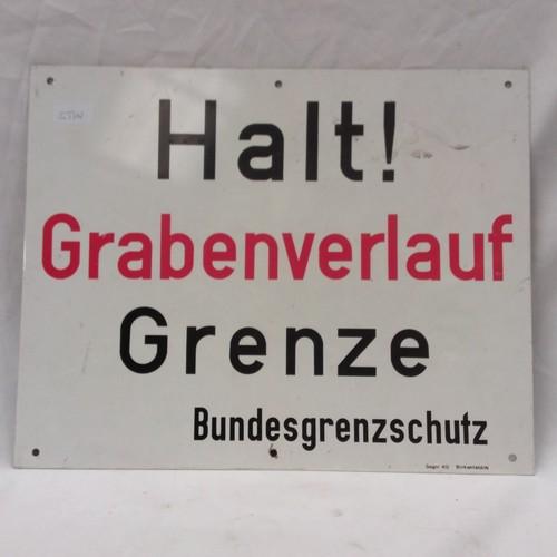 1185 - A vintage German enamel sign. Reads