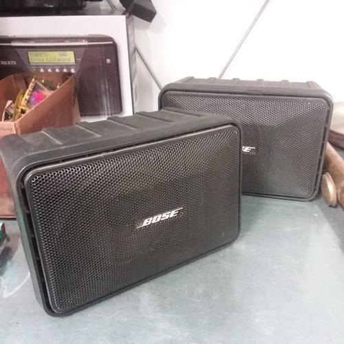 1207 - A pair of Bose model 101 speakers....