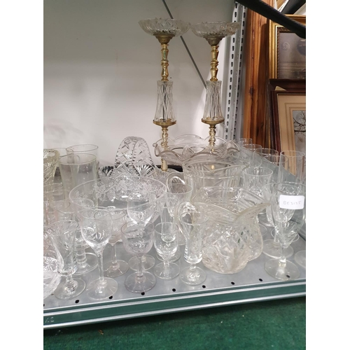 1230 - A large collection of assorted glassware to include crystal....