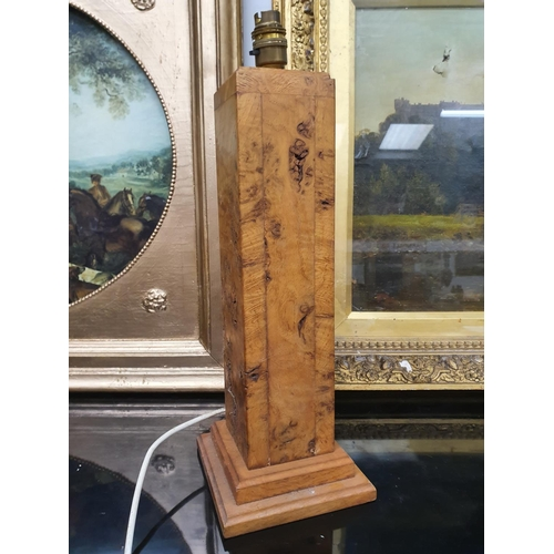 1241 - A modern wooden table lamp base....