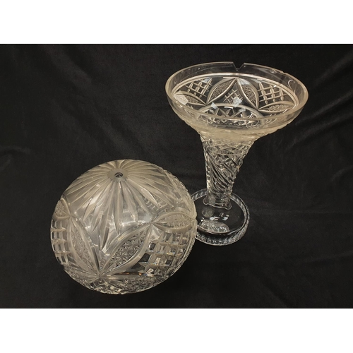 1245 - A crystal glass boudoir lamp (possibly Waterford Crystal)....