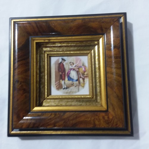 1270 - Two miniature vitreous enamel on copper pictures by Pat Collins....