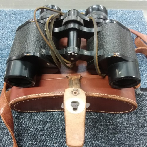 1343 - A pair of vintage Carl Zeiss Jena Sportur 6x24 binoculars with case....