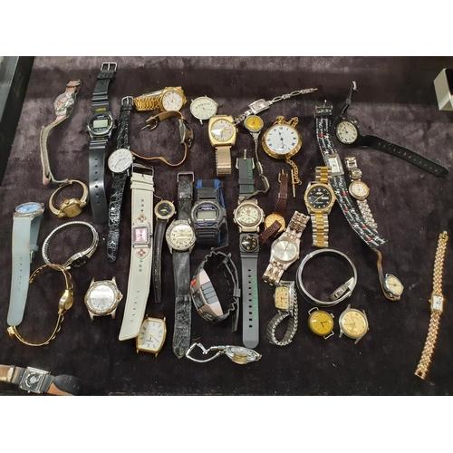 1283 - A box of modern wristwatches....