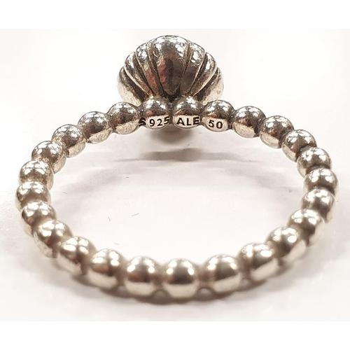 1329 - Genuine Pandora silver ring size H....