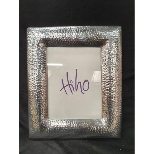 1366 - A large silver plated photo frame....