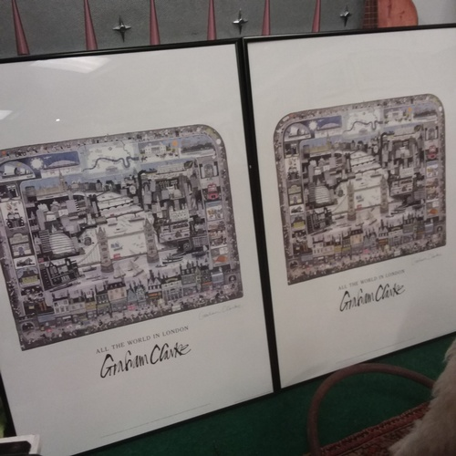 1378 - A pair of signed Graham Clarke pictures