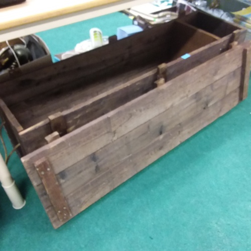 1405 - A vintage croquet set in wooden box....