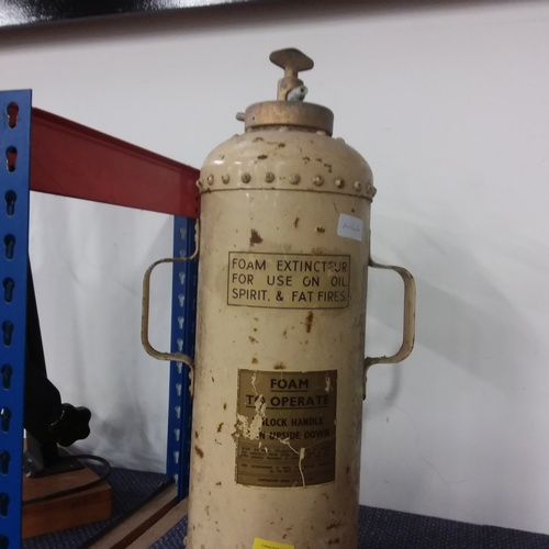 2010 - A vintage foam fire extinguisher....