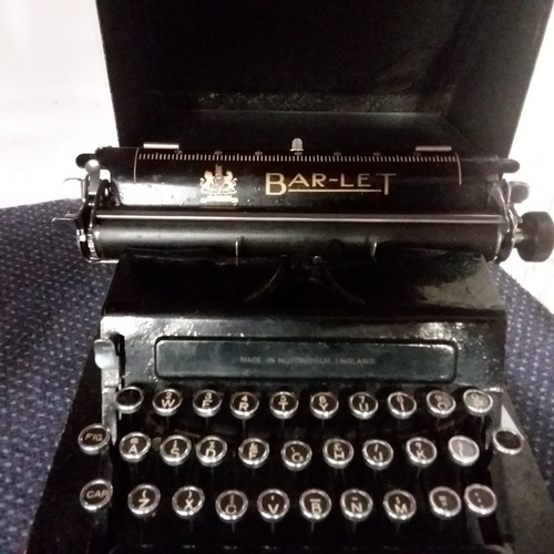 2013 - A Model 2 Bar-Let typewriter....