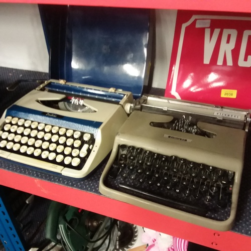 2037 - A pair of Olivetti and Zodiac typewriters....