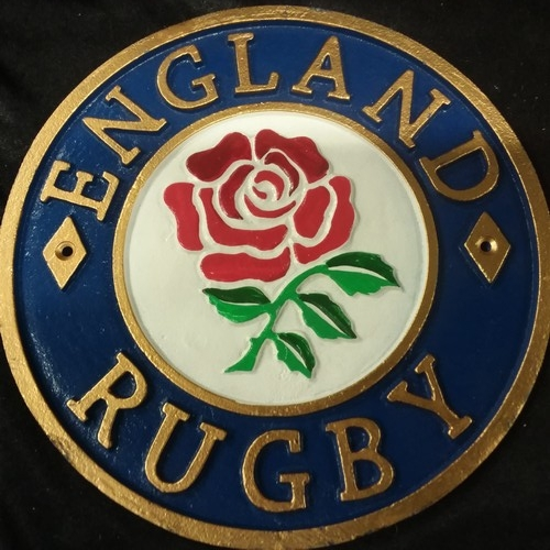 1131 - A cast iron England rugby plaque.(224)....