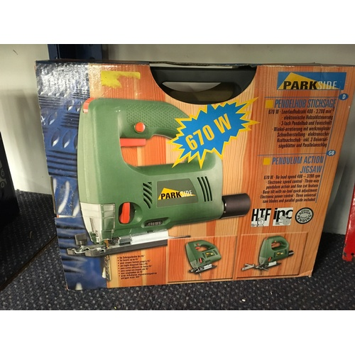 2017 - A Power Craft 40w model building and engraving kit. Together with a Parkside jigsaw....