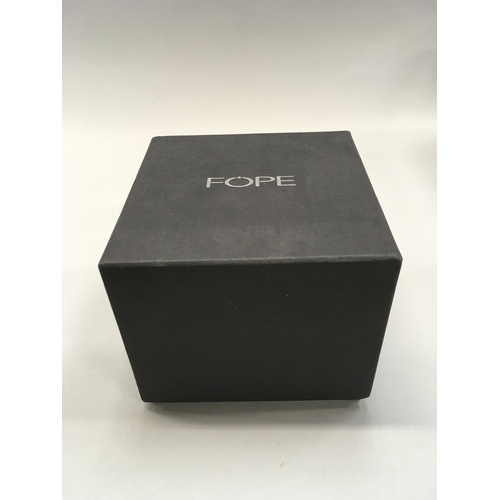 394 - FOPE 18ct white gold bracelet with box....