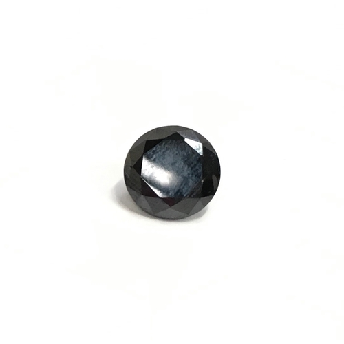 446 - Black moissanite/diamond single stone - approx size 15mm x 10mm = approx 10ct....
