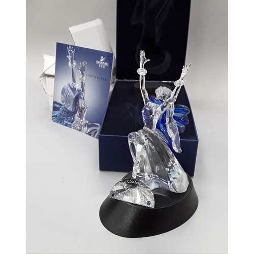 37 - Swarovski Crystal: 2002 Isadora Magic of the Dance with stand, plaque and paperweight 608238 - Adi S...