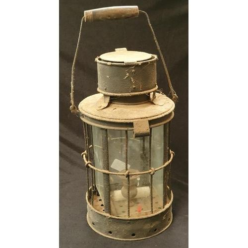 1011 - A vintage metal outdoor lantern....