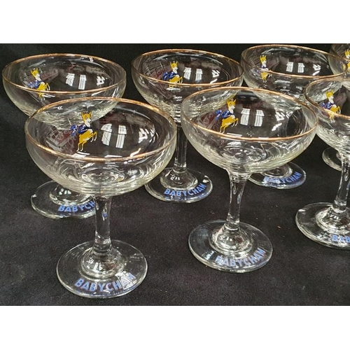 1016 - A set of ten vintage Babycham glasses....