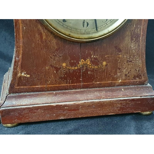 1021 - An antique Edwardian mahogany framed chiming mantle clock....