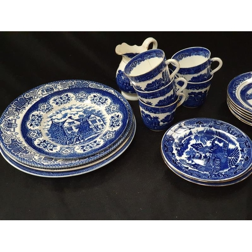 1047 - A collection of blue and white chinaware....