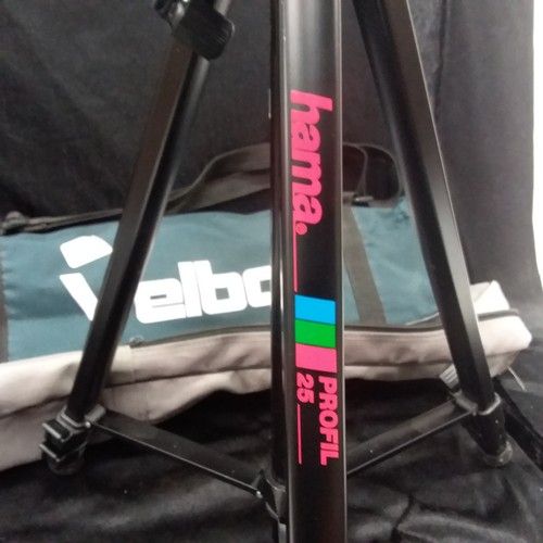 1107 - A Greenkat 12 x 40 x 40 spotting scope together with a Hama profil 25 tripod both with carrying case...