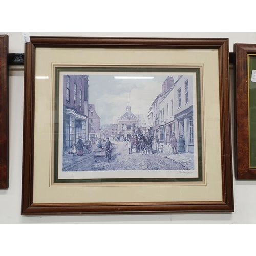 1101 - A framed and glazed limited edition local Poole print of The Guildhall. 83/850 embossed mark. signed...