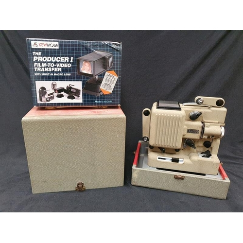 1106 - A vintage Eumic P8 M film projector together with a film to video transfer kit....
