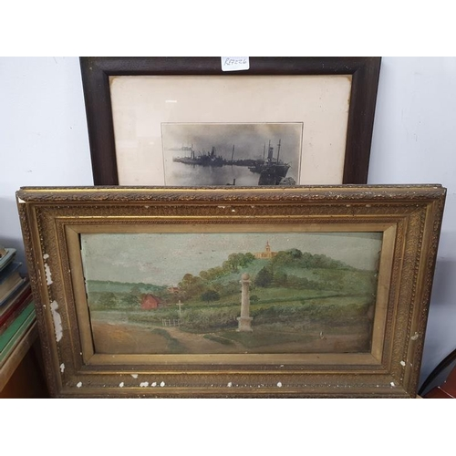 1126 - Two vintage framed and glazed pictures....