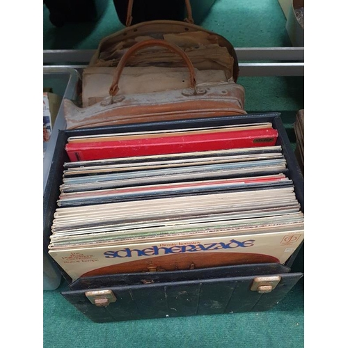1530 - A bag of 78rpm and a box of lps....