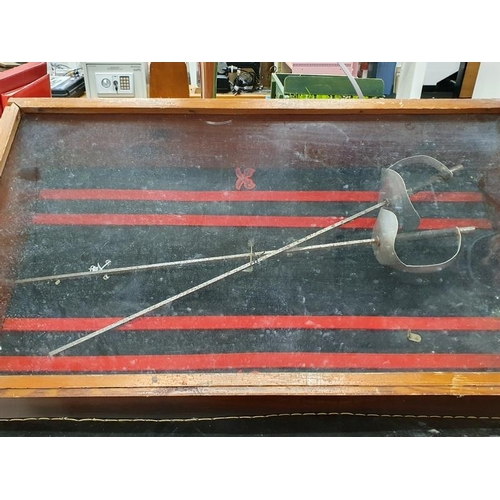 1539 - A military Fencing display case....