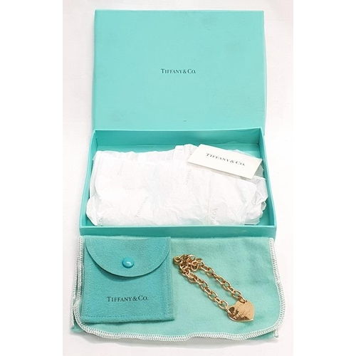 20 - Tiffany & Co genuine 18ct gold, fully hallmarked bracelet. To fit up to 7.5 inch wrist. Boxed. (24.5...