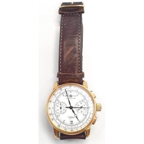 318 - Pair of hoop earrings, chain and a watch (Ref 9/10/37)....