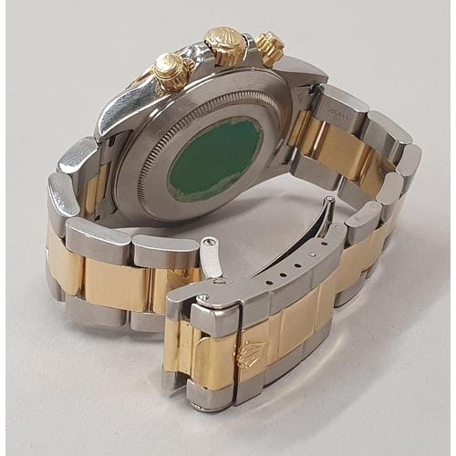 10 - Rolex Daytona 1993 Model 16523, 18ct gold/stainless steel case/bracelet Gents wristwatch, over haule...